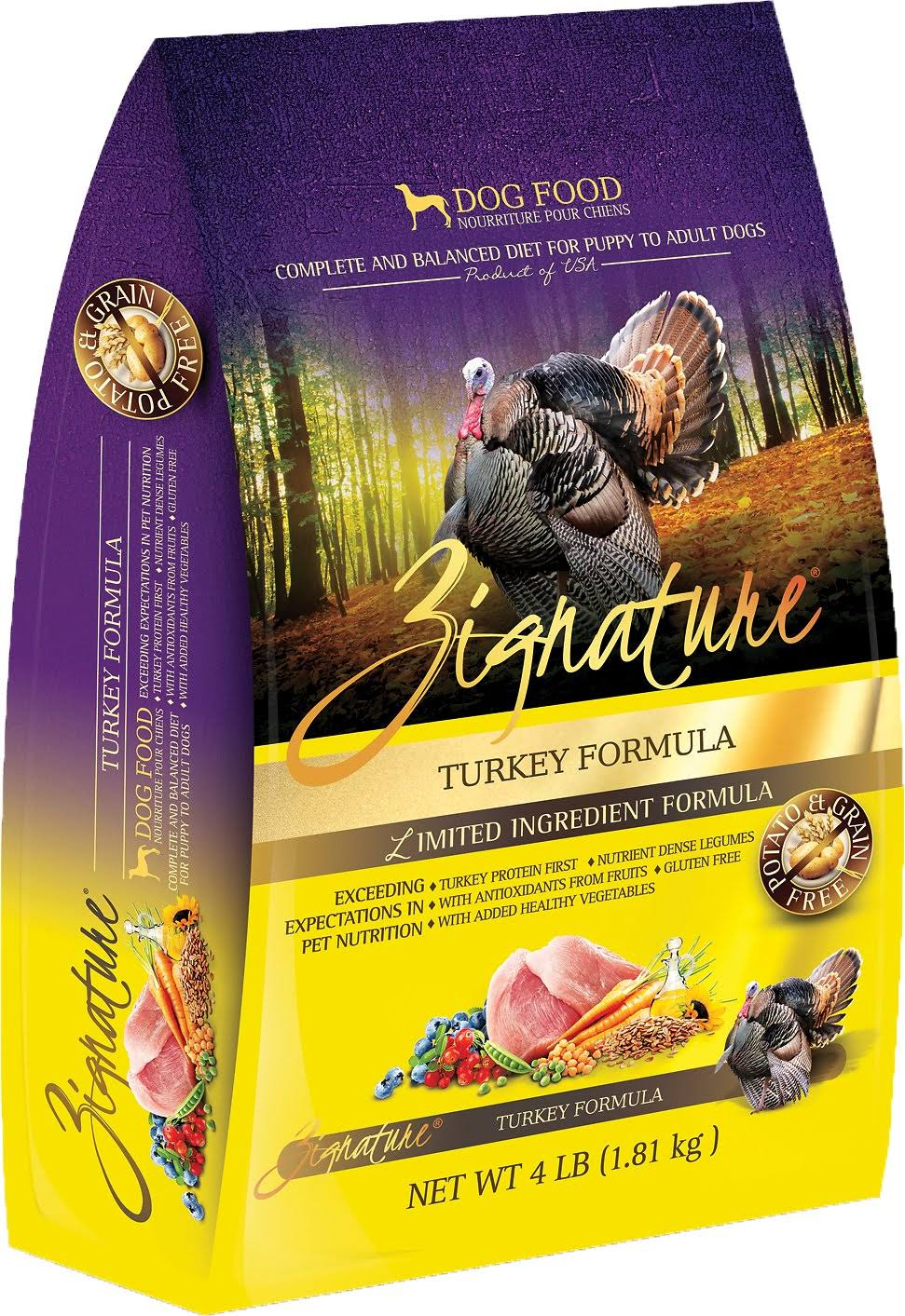 Zignature Limited Ingredient Turkey Dry Dog Food 4 lbs