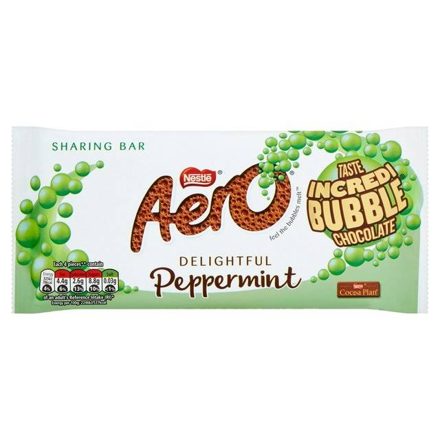 Aero Peppermint Mint Chocolate Sharing Bar - 100g