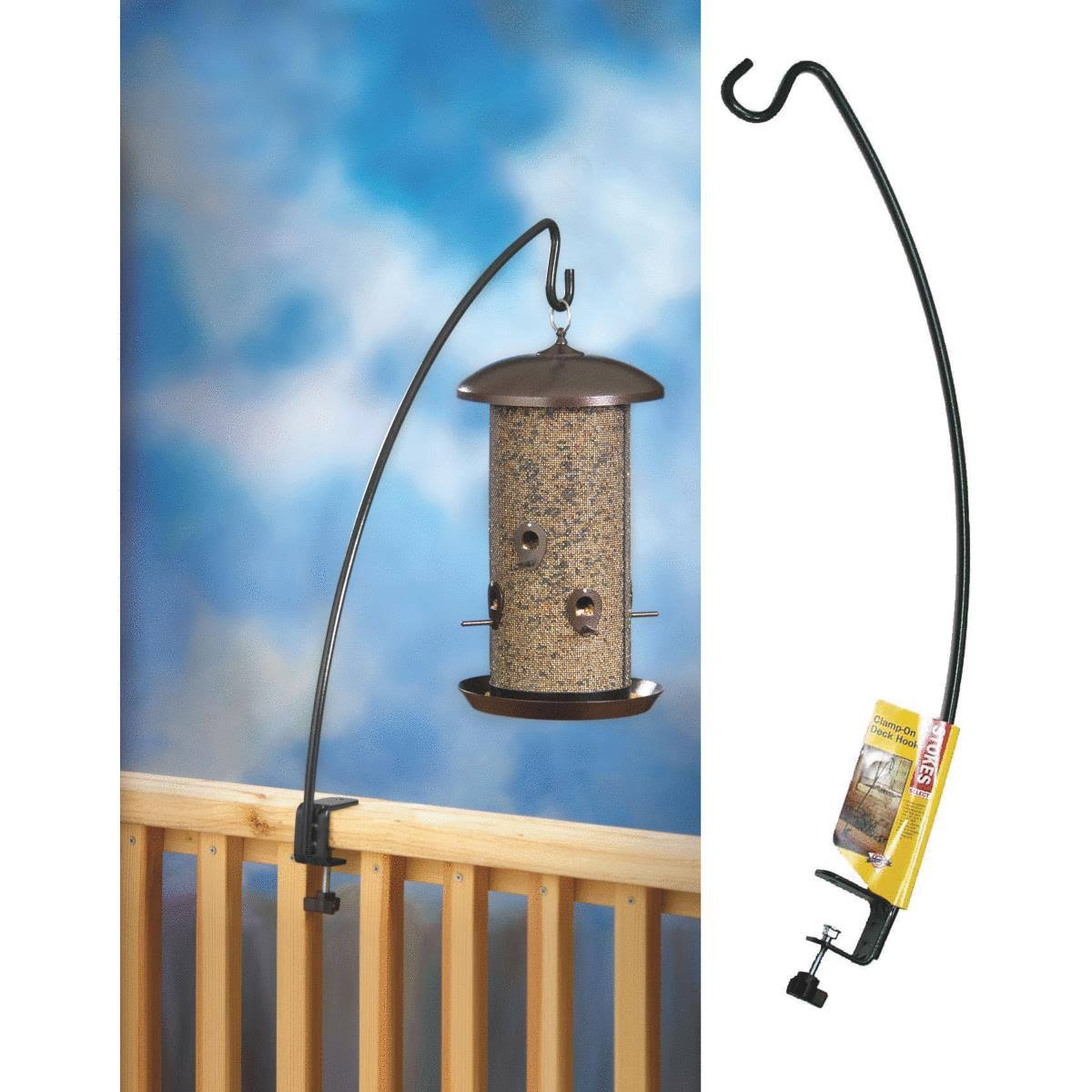 Stokes Select Bird Feeder Metal Clamp-On Deck Hook - 24""