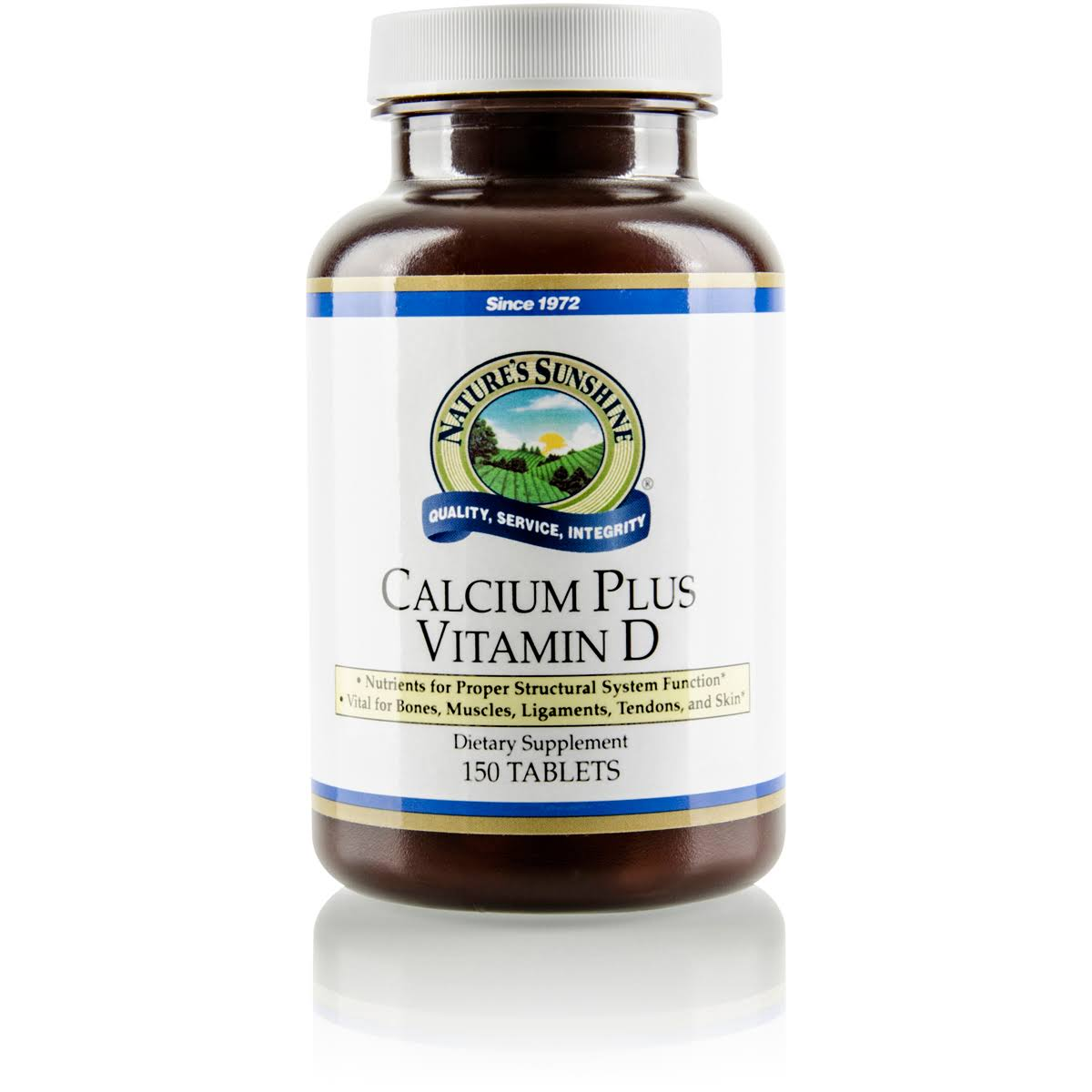 Nature's Sunshine Calcium Plus Vitamin D Supplement - 150 Tablets