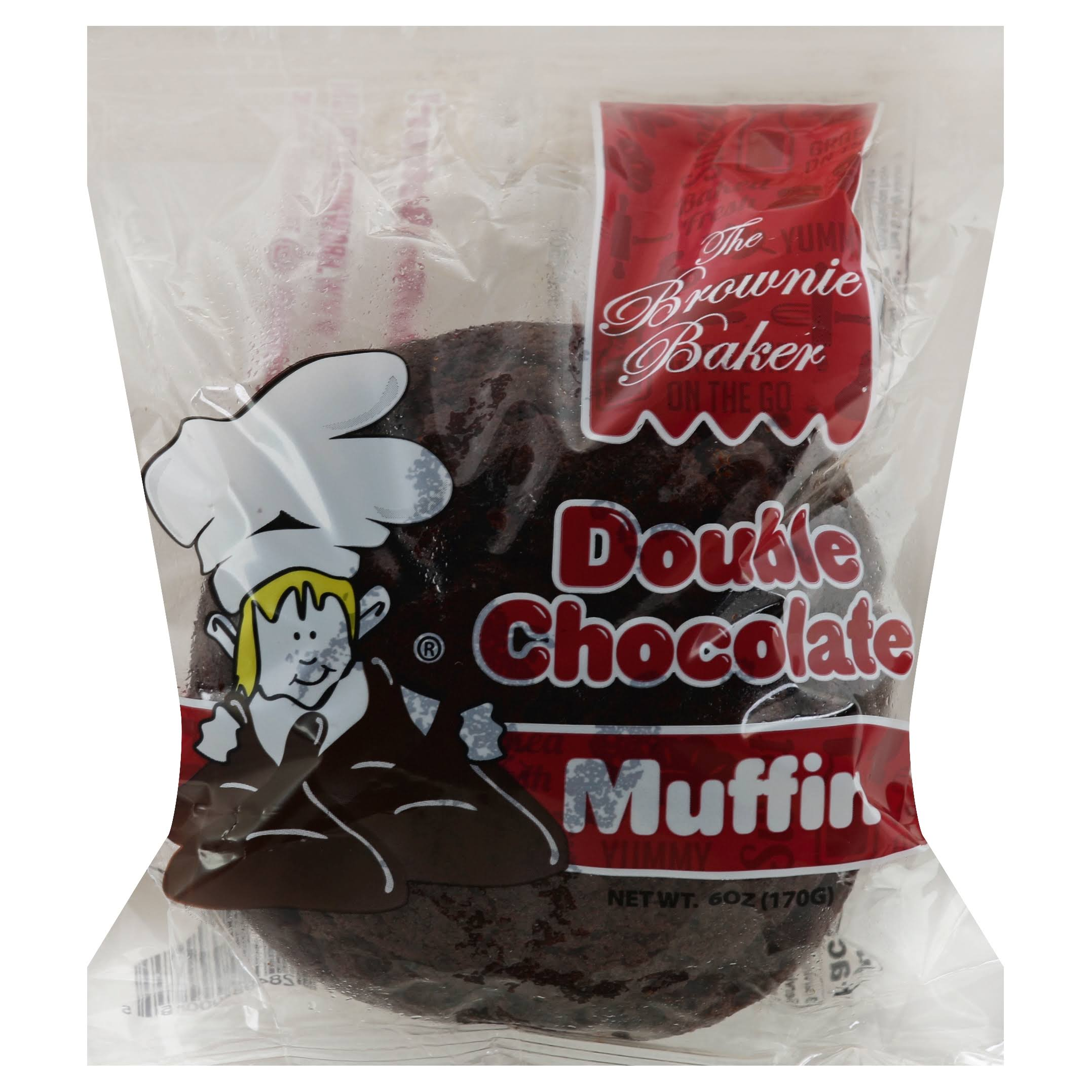 Brownie Baker Muffin, Double Chocolate - 6 oz