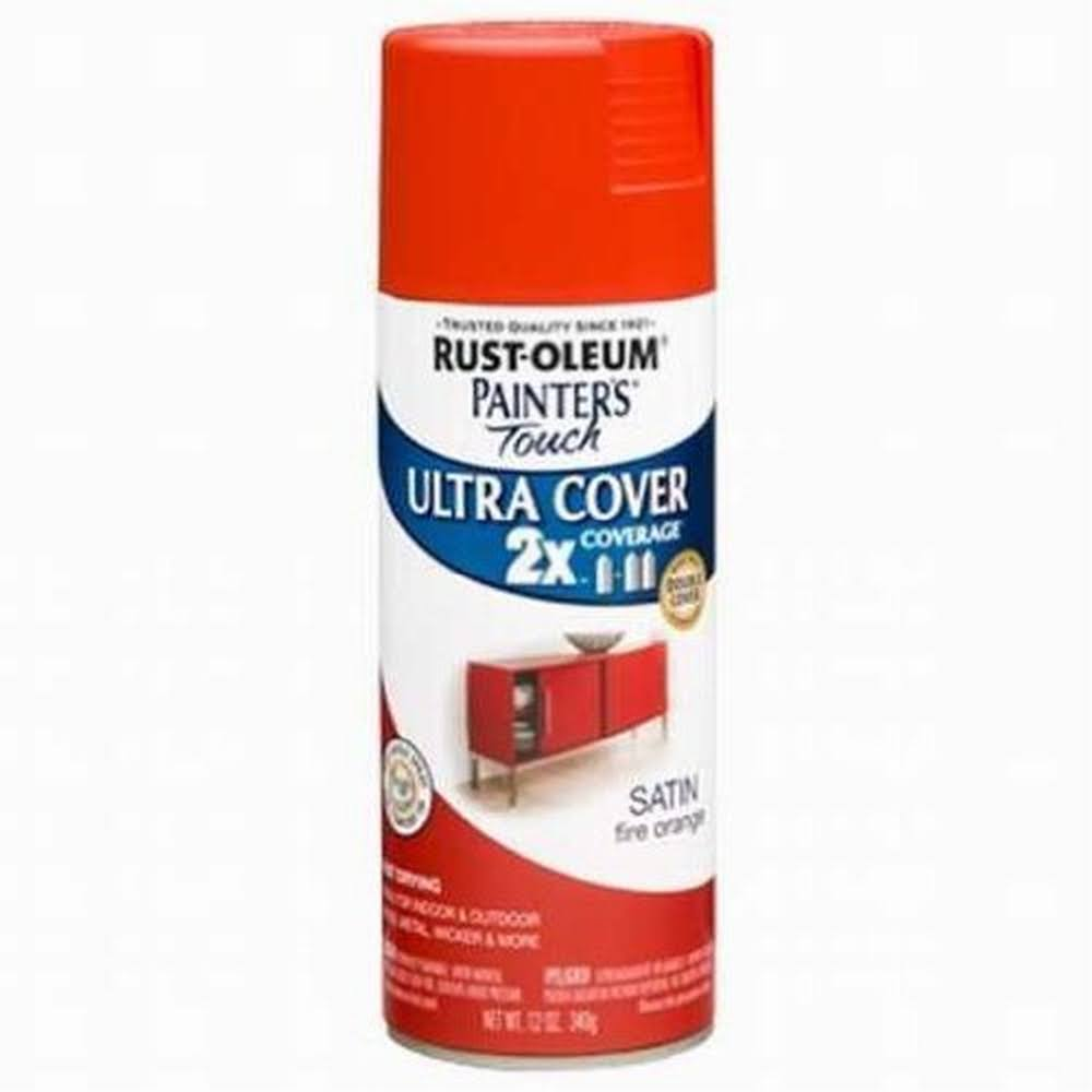 Rust-Oleum 263149 12 oz. Satin Fire Orange Painter's Touch Ultra Cover Spray Paint