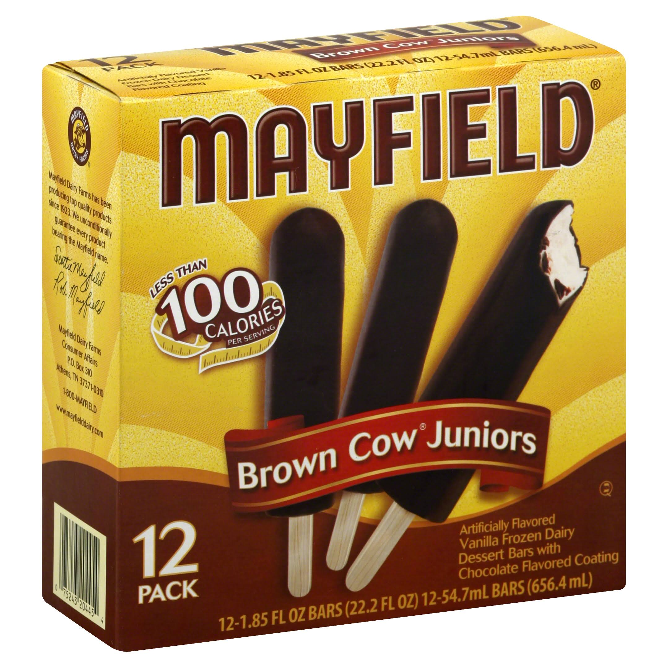 Mayfield Brown Cow Juniors Ice Cream Bars - 1.85oz, 12ct