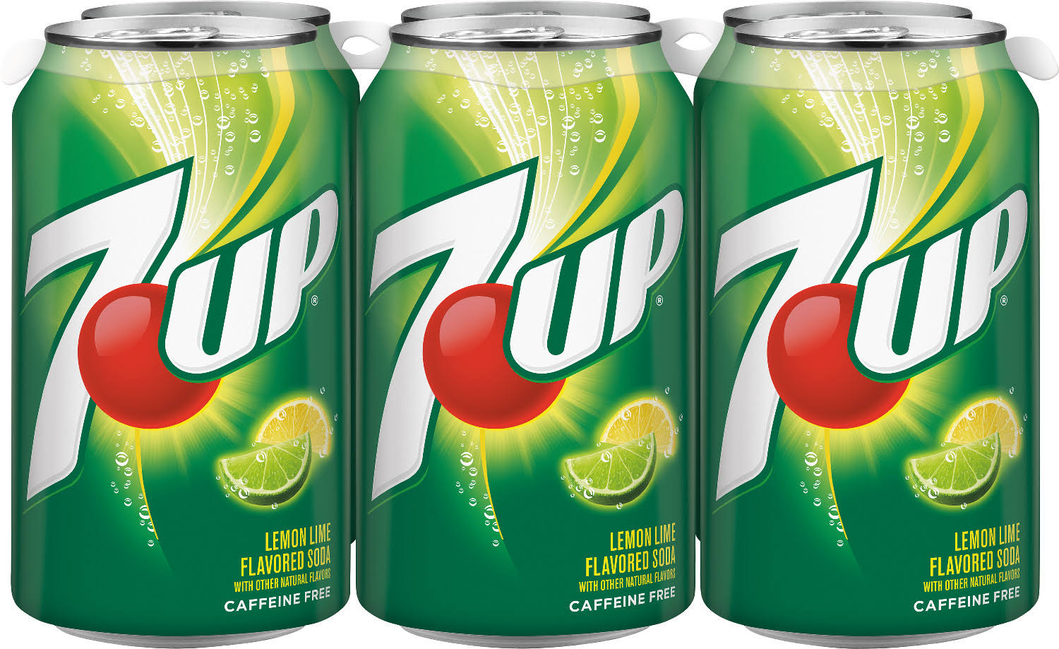 7UP, 12 fl oz cans, 6 pack