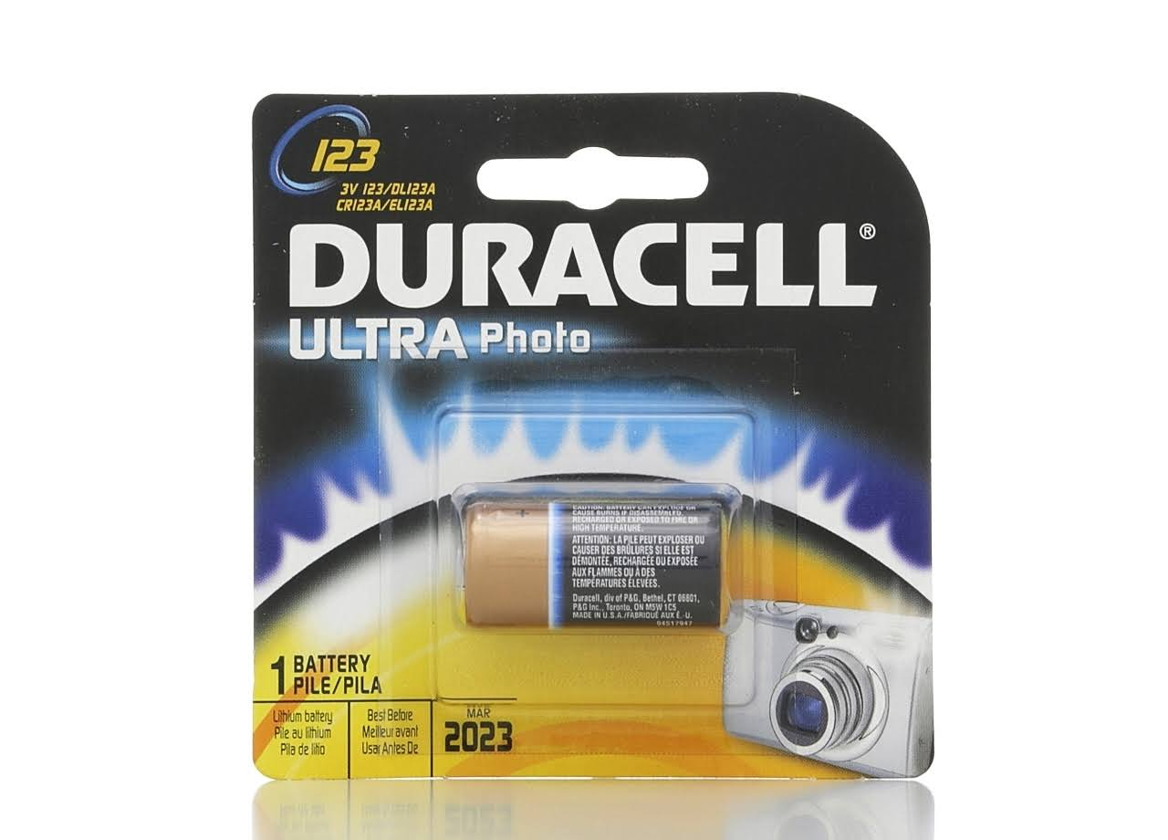 Duracell 123 Ultra Photo Lithium Camera Battery - 3v