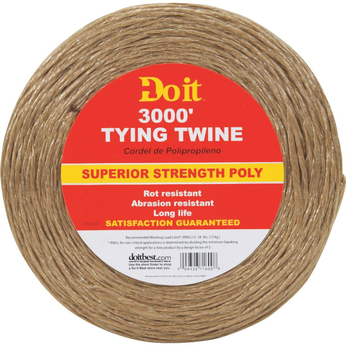 Do It Polypropylene Tying Twine - 3000ft