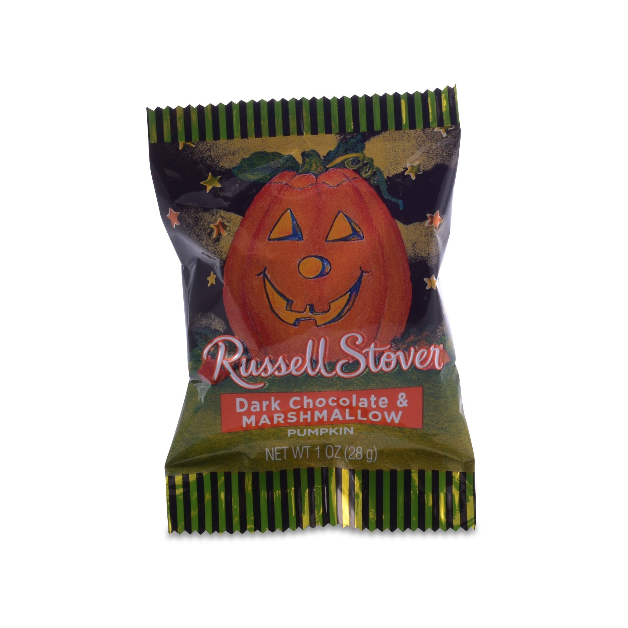 Russell Stover Dark Chocolate & Marshmallow, Pumpkin - 1 oz