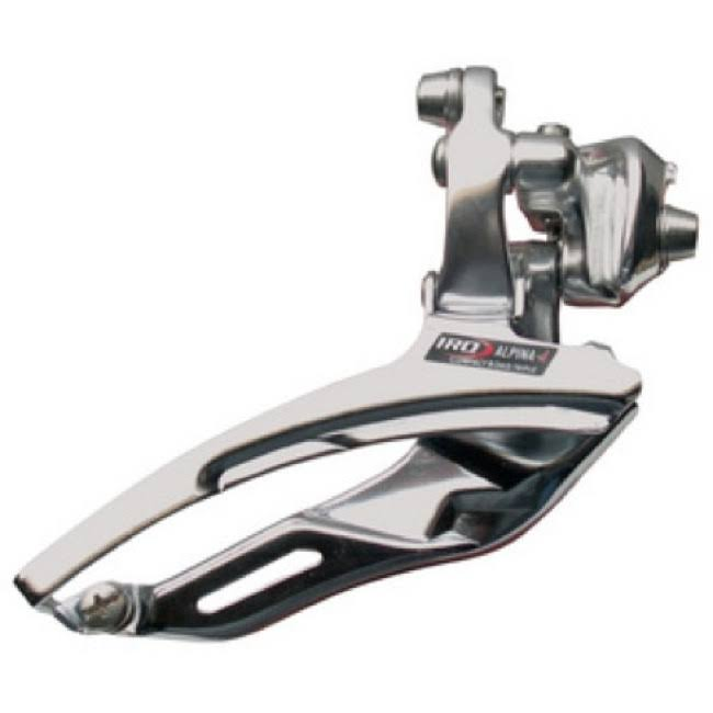 IRD Interloc Alpina-D Triple Front Derailleur - Braze on (Silver)