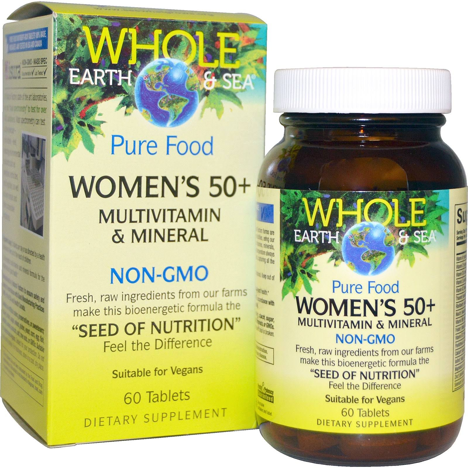 Whole Earth And Sea Women's 50+ Multivitamin And Mineral - 60 Tablets