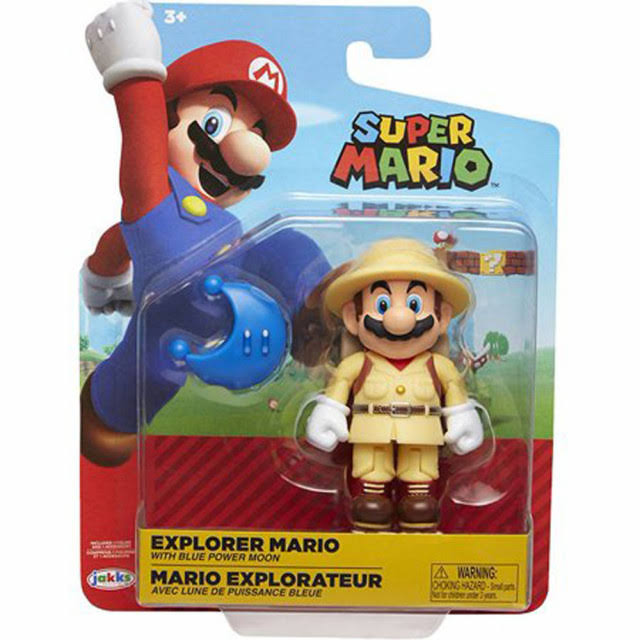 World of Nintendo Wave 17 Explorer Mario Action Figure [Blue Power Moon]