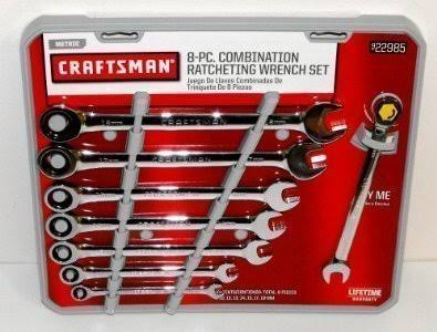 Craftsman Metric Combination Ratcheting Wrench Set - 8 Pieces