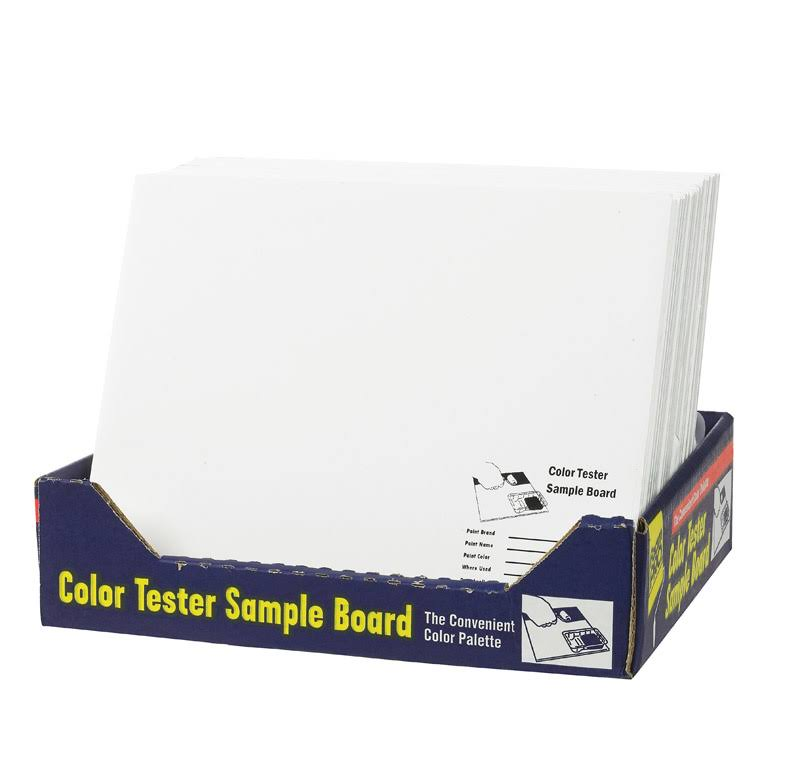 FoamPro Foam Pro Color Test Sample Board No. 120, White - 1 pack