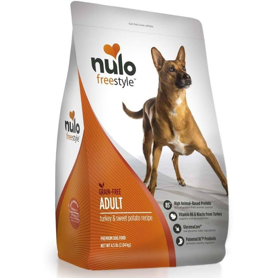 Nulo FreeStyle Grain Free Adult Dry Dog Food - Turkey & Sweet Potato, 24lb