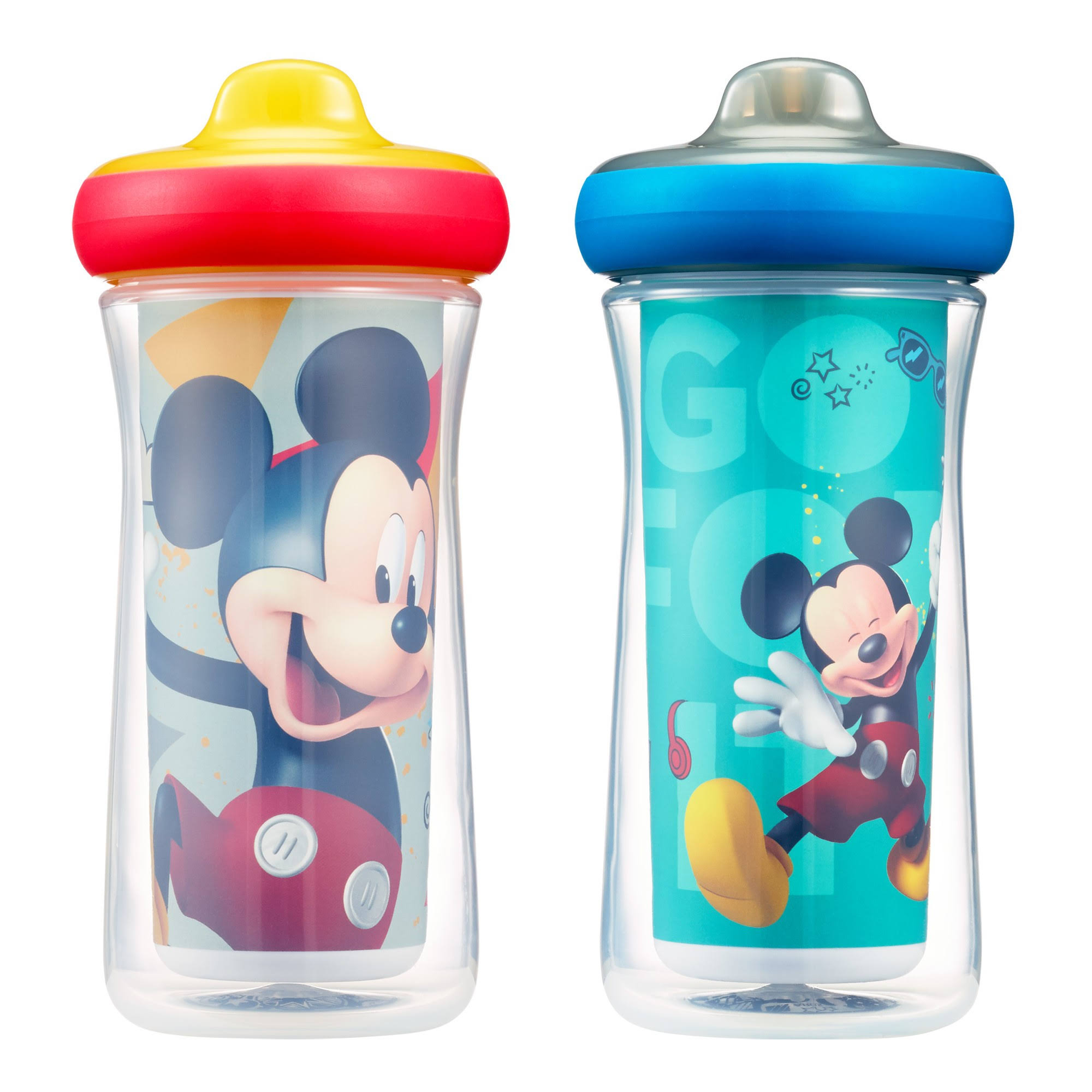The First Years Disney Mickey Mouse Imaginaction 2-Pack 9 oz. Insulated Hard Spout Sippy Cups