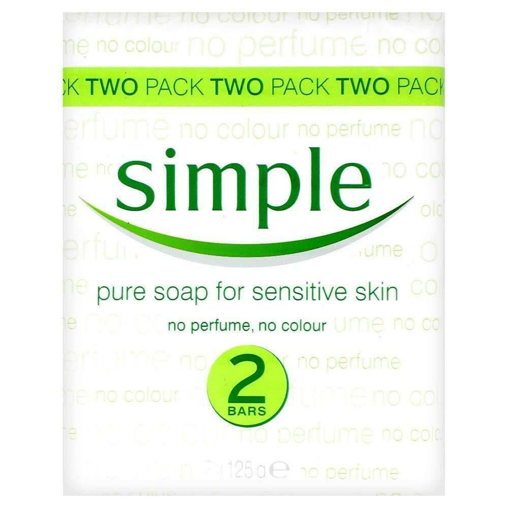 Simple Pure Soap - for Sensitive Skin, 2pk, 125g
