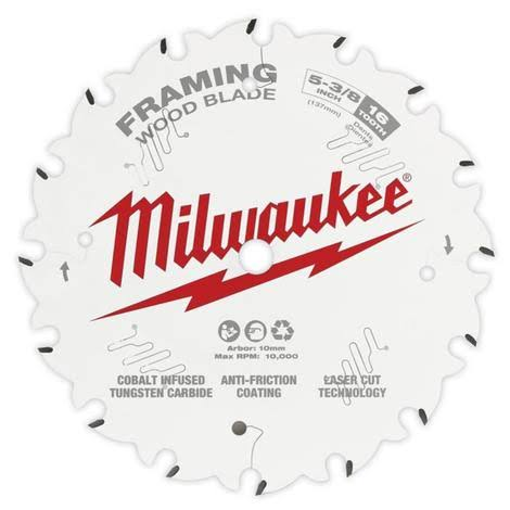 "Milwaukee 48-40-0522 Framing Circular Saw Blade - 5-3/8"", 16T"
