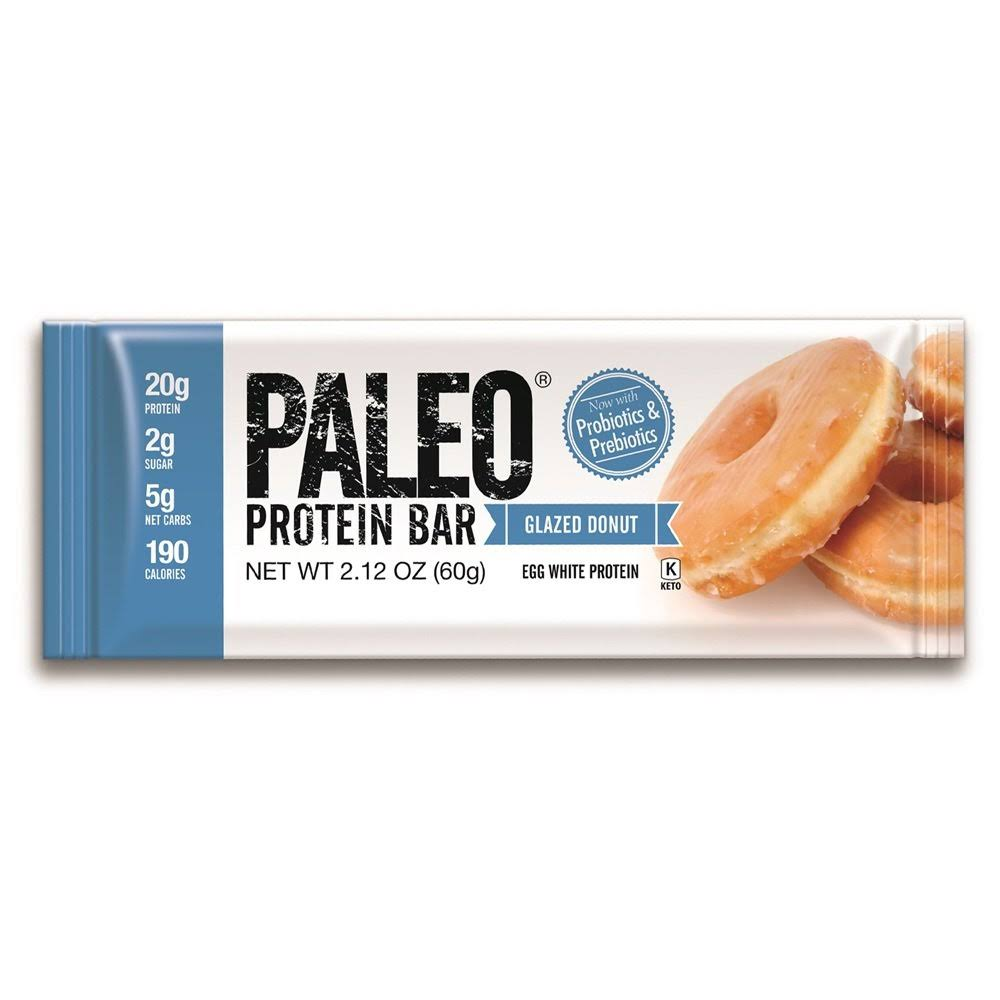 Julian Bakery Paleo Protein Bar, Glazed Donut - 2.12 oz pack