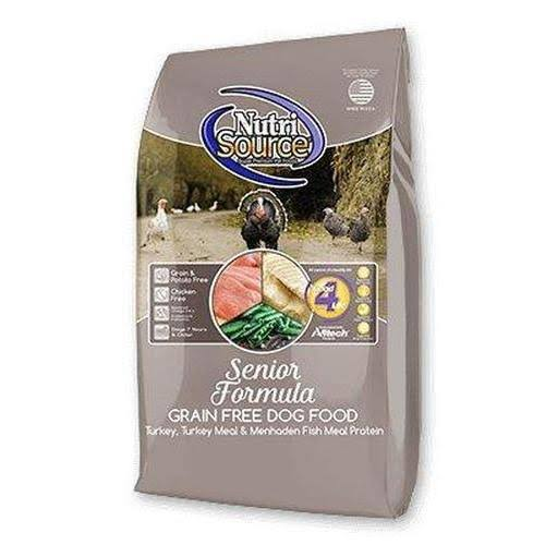 NutriSource Grain Free Senior Recipe Dry Dog Food - 30-lb