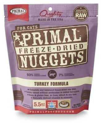 Primal Freeze Dried Cat Food - Turkey Formula, 5.5oz
