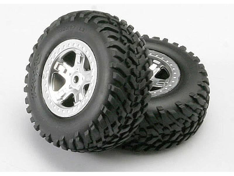 Traxxas Tires & Wheels Assembled Slayer (2) 5973