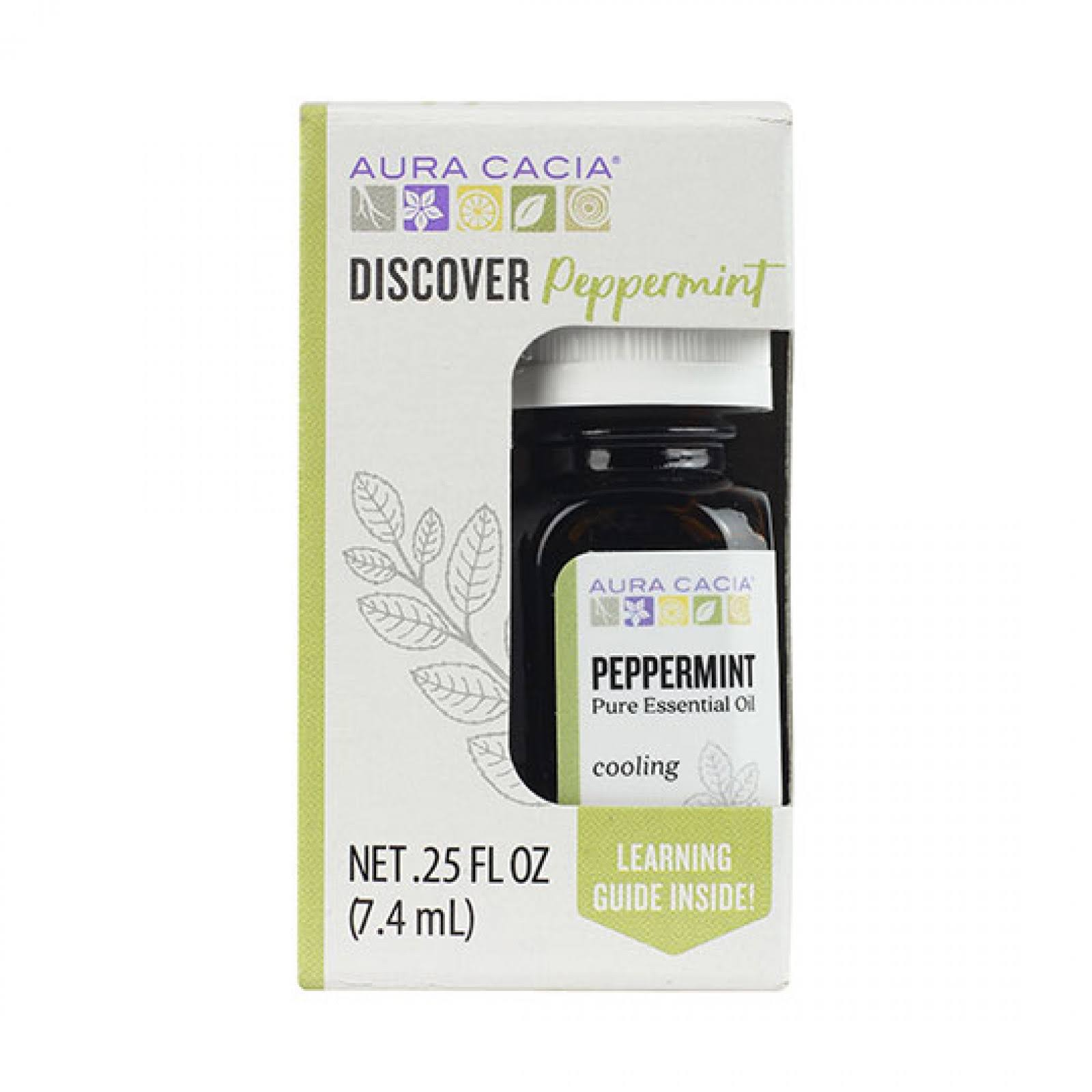 Aura Cacia Discover Peppermint Essential Oil 0.25 fl. oz