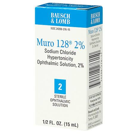 Bausch and Lomb Muro Sterile Ophthalmic Eye Solution - 15ml