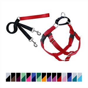 Freedom No Pull Dog Harness - with Leash, Red, Medium