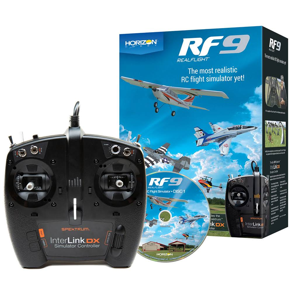 RealFlight 9 Flight Simulator with Spektrum Controller