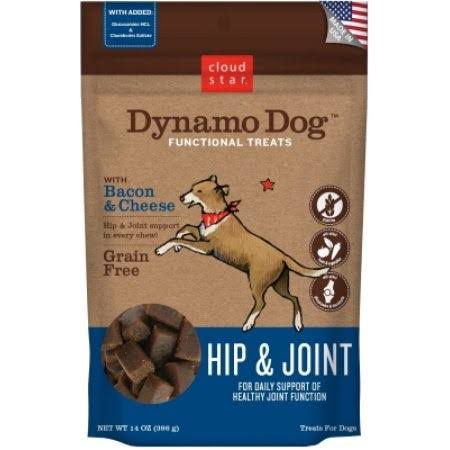 Cloud Star Dynamo Dog Hip And Joint Treats - Bacon and Cheese