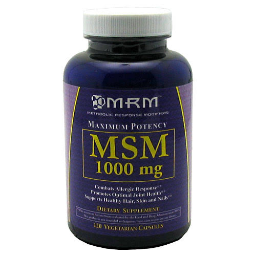 Mrm Msm Vegetarian Dietary Supplement - 120 Capsules