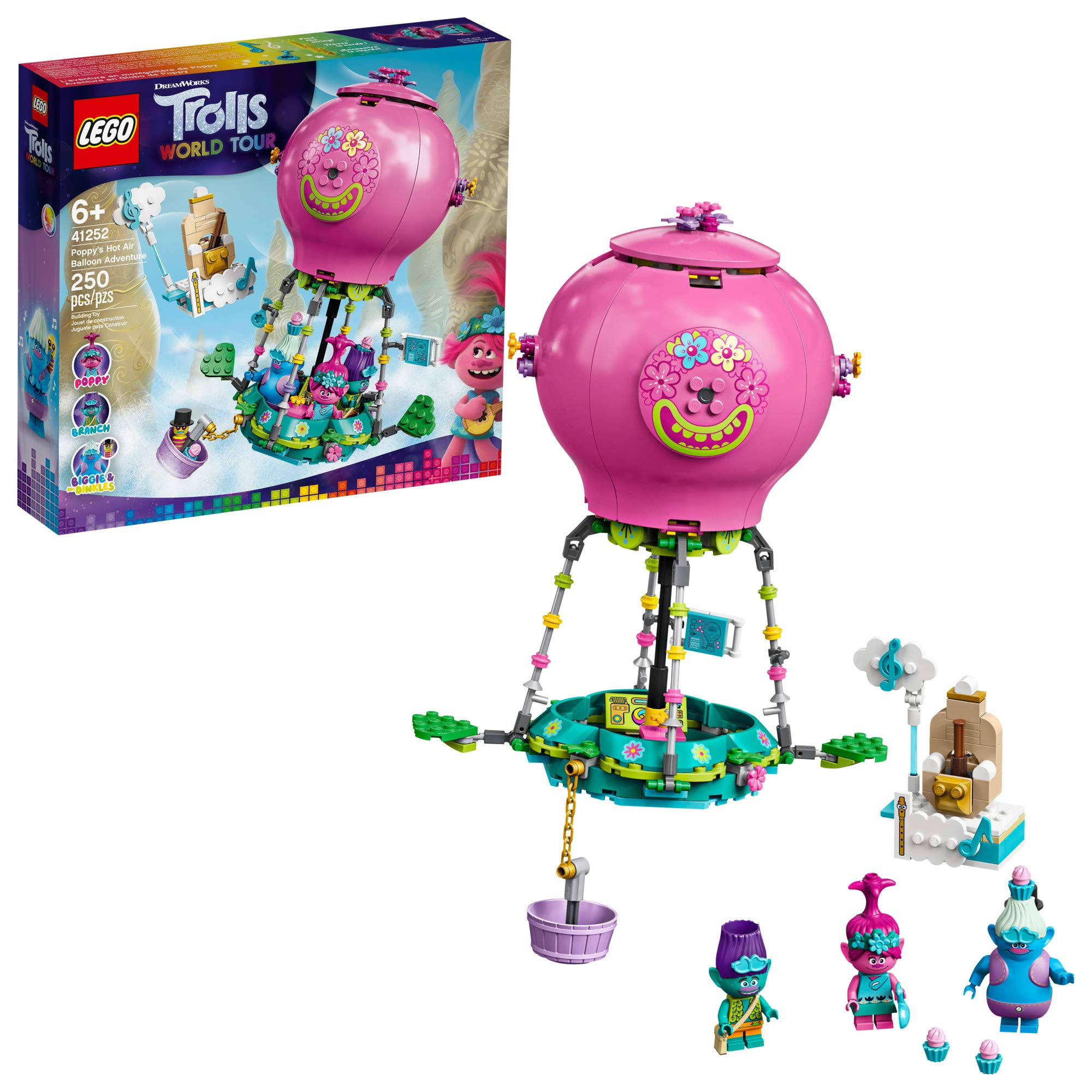 Lego Trolls World Tour Poppy's Hot Air Balloon Adventure 41252