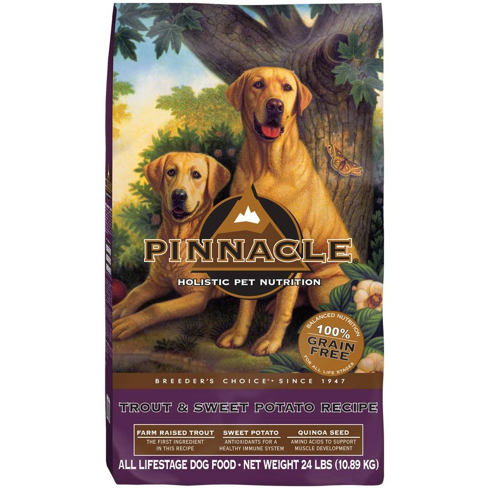 Pinnacle Grain Free Dog Food - 24lb, Trout and Sweet Potato Formula