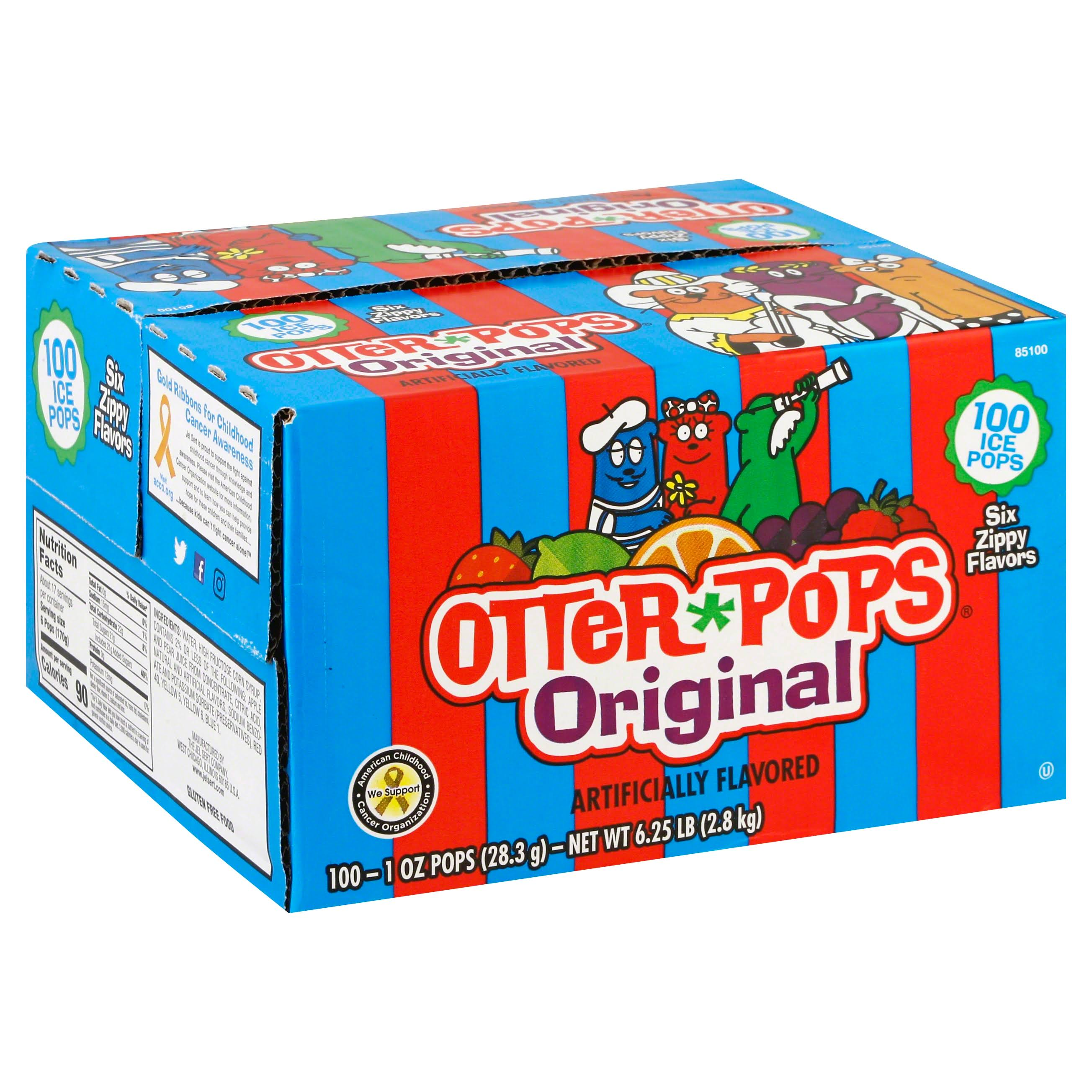 Otter Pops Ice Pops, Original - 100 pack, 1 oz pops
