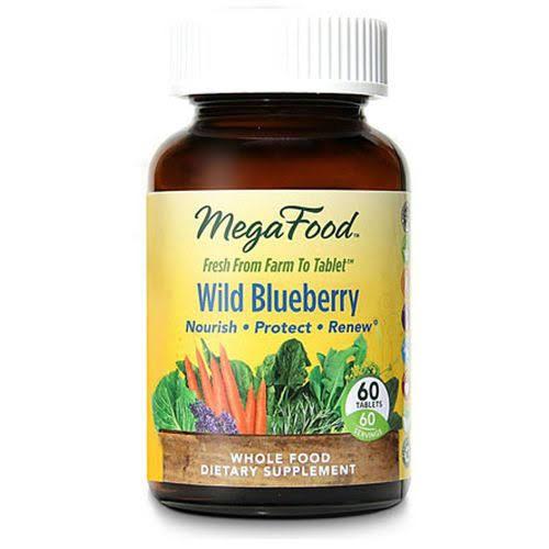 Megafood Wild Blueberry Dietary Supplement - 60 Tablets