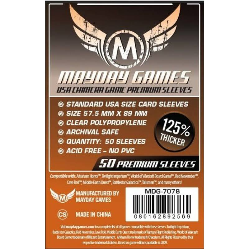 Mayday Games Card Sleeves - 50 Premium Sleeves