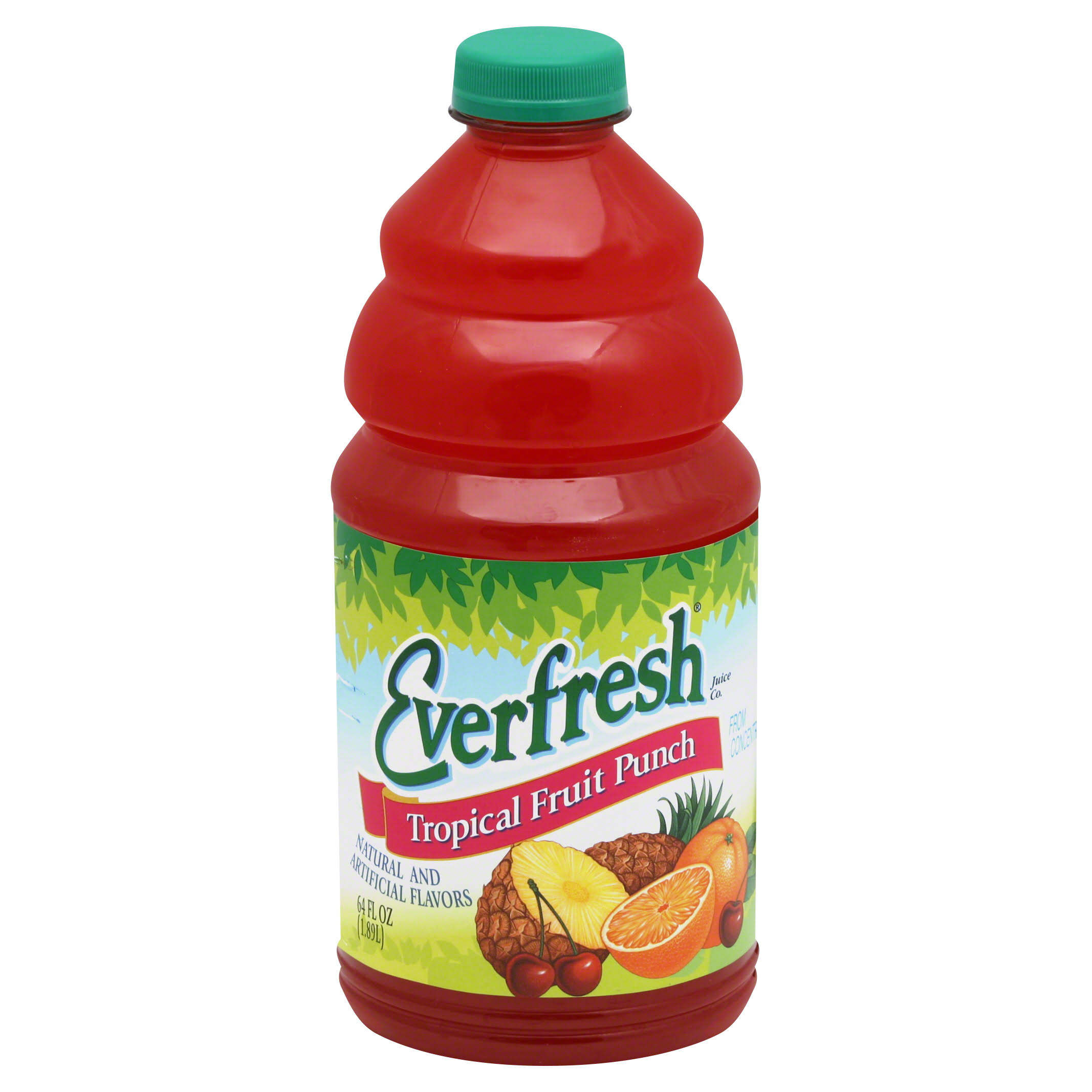 Everfresh Fruit Punch, Tropical - 64 fl oz
