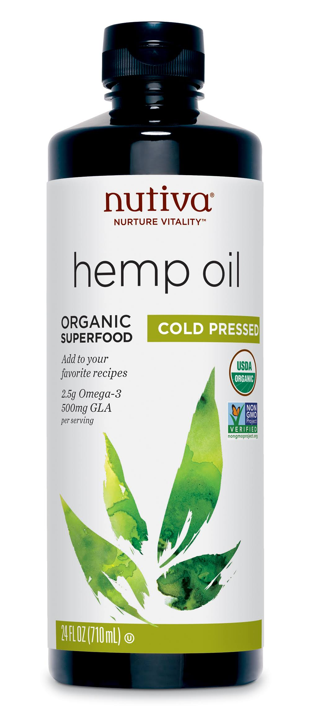 Nutiva Organic Cold Pressed Unrefined Hemp Oil - 24oz