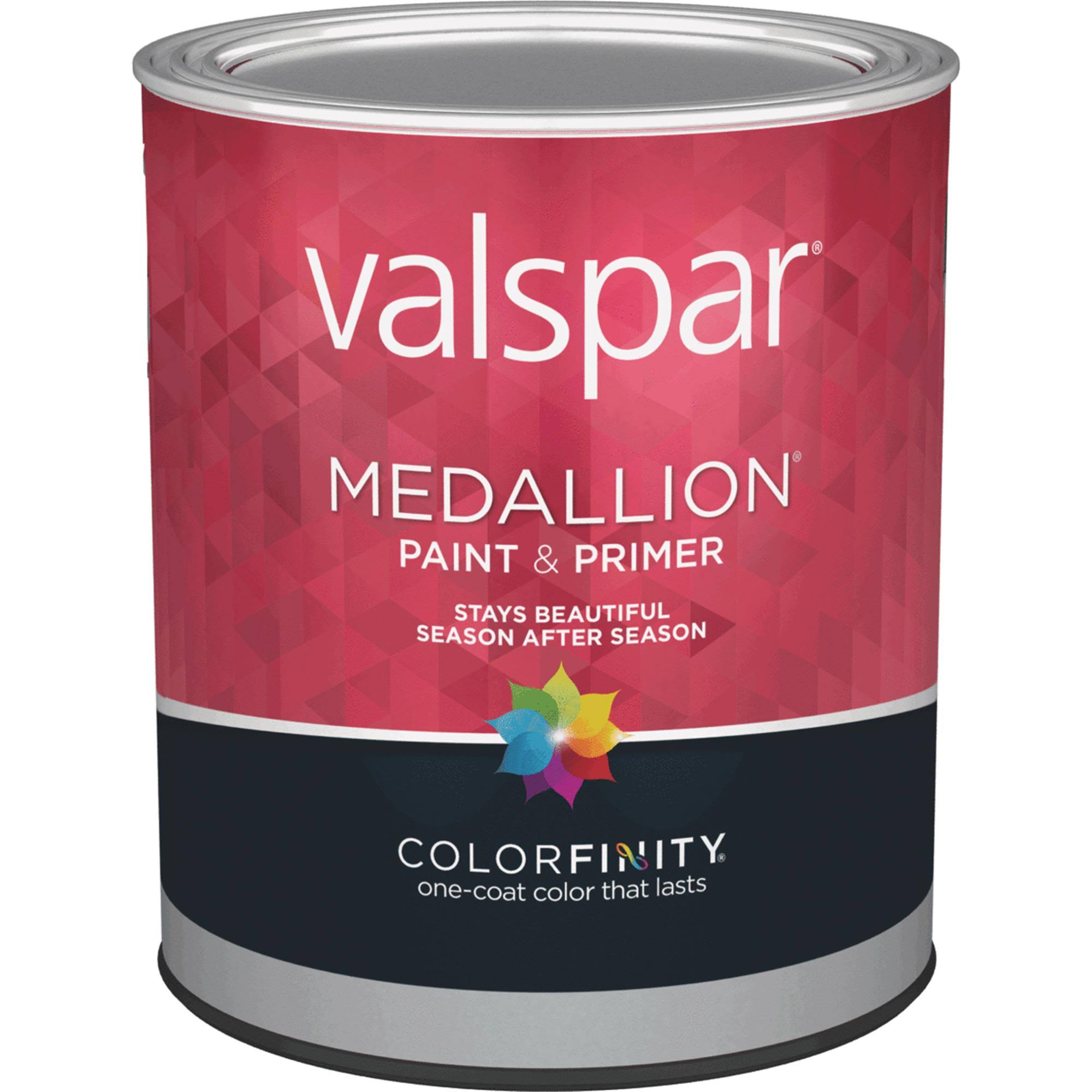 Valspar Brand White Medallion Exterior Latex House and Trim - 1 qt