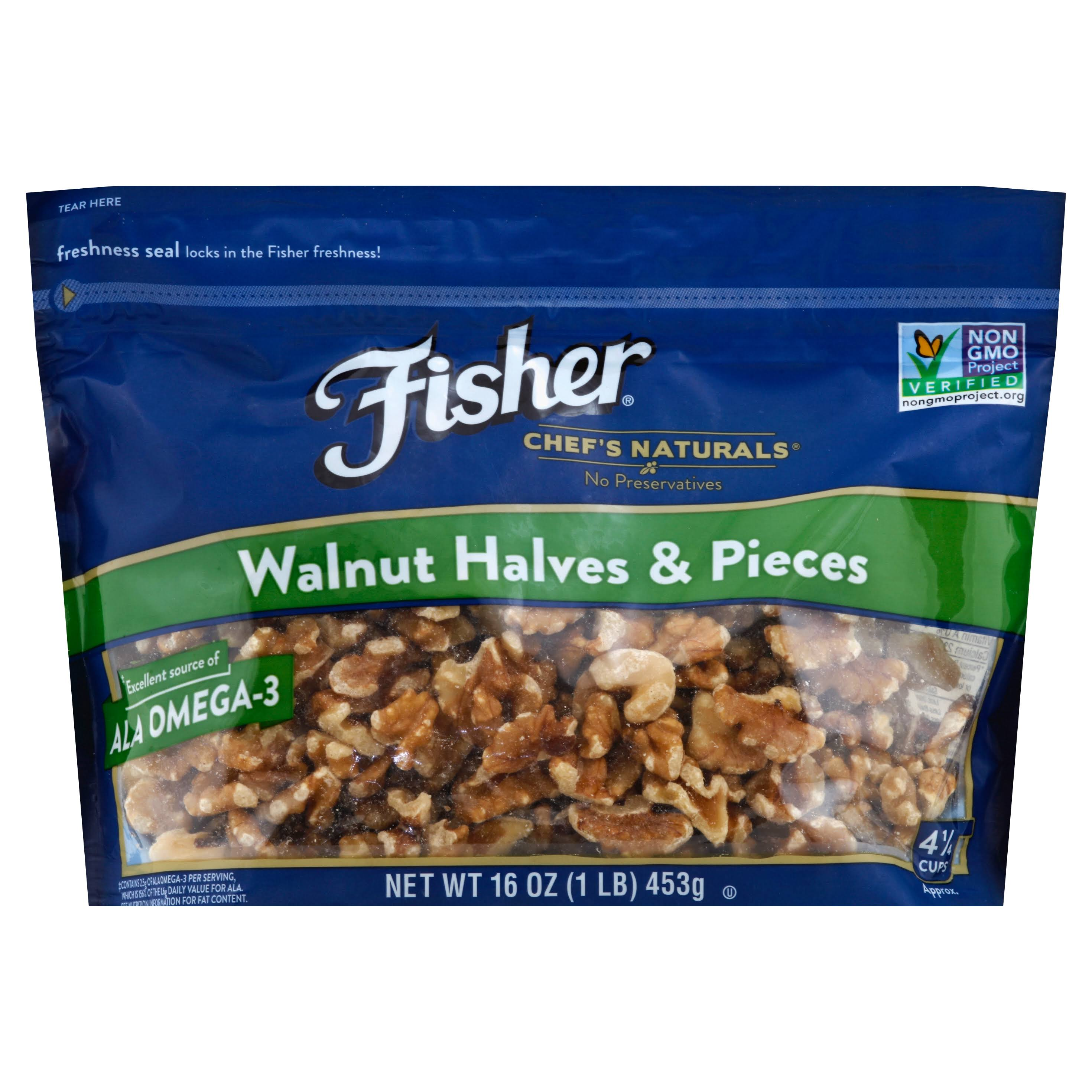 Fisher Chef's Naturals Walnut - 16oz