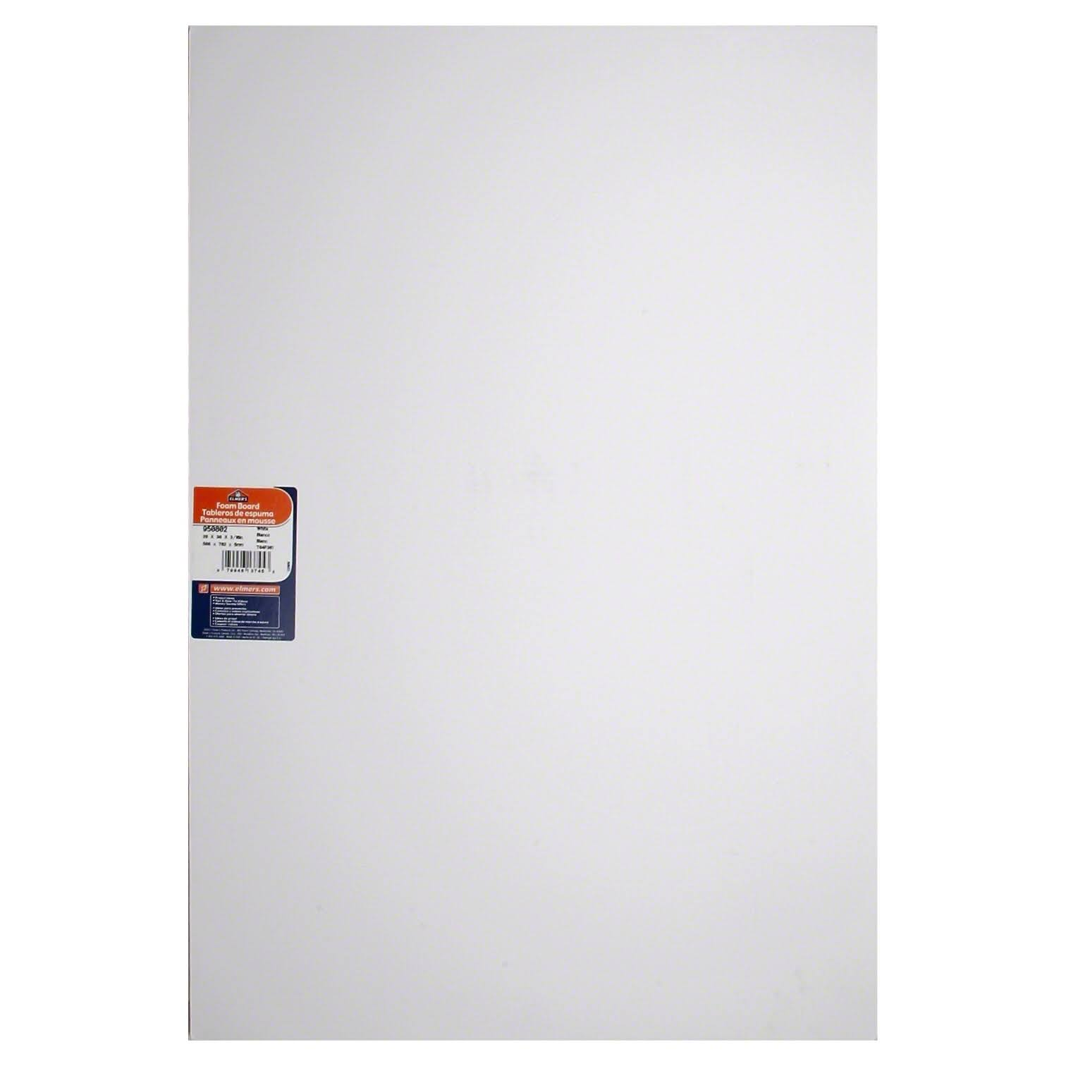 "Elmerft.s Products Inc Sturdy Foam Board - 0.19"" Thick, 20"" x 30"", White"