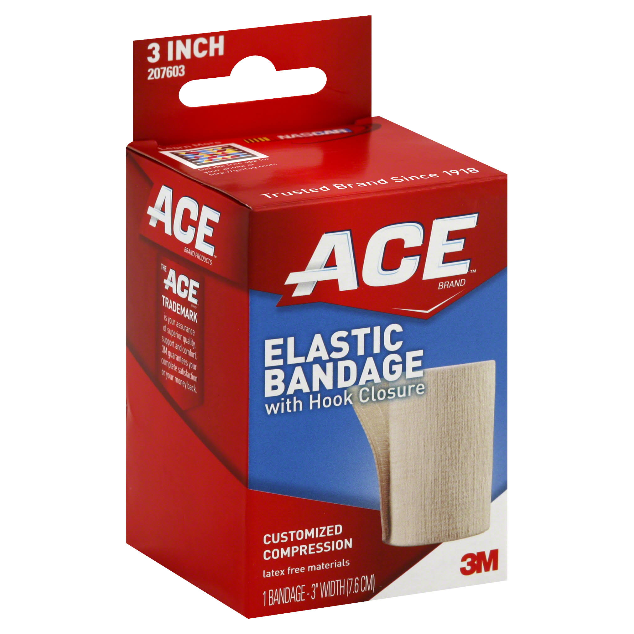 "Ace Elastic Bandage with Hook Closure - 3"", 2pk"