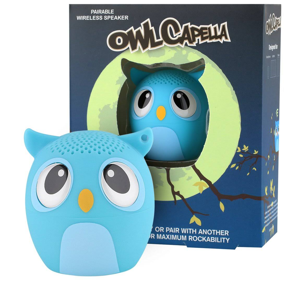 My Audio Pet Owl Capella Mini Bluetooth Wireless Speaker - Blue