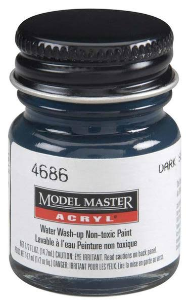 Model Master Acrylic Paint - 4686 Dark Sea Blue/
