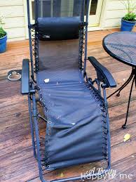 Replace Patio Sling Chair Fabric by Zero Gravity Chair Repair A Pretty Happy Home