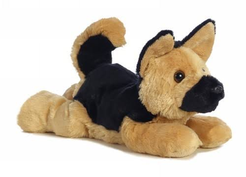 Aurora Plush German Shepherd Puppy Dog Flopsie Stuffed Animal Toy - 12""
