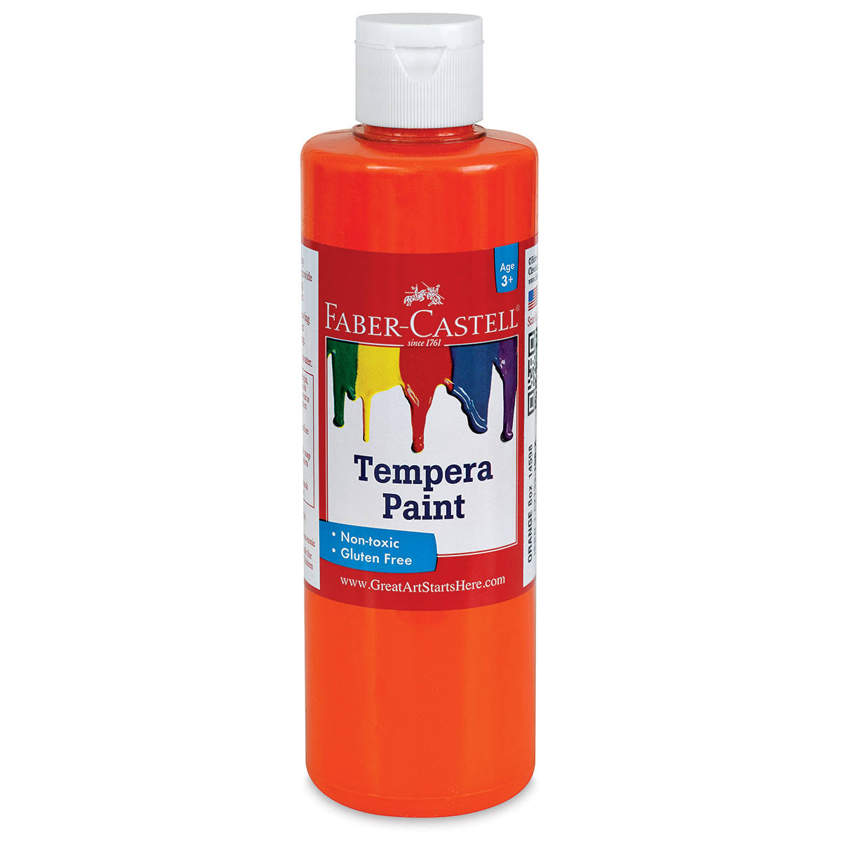 Faber-Castell Tempera Paint - Yellow, 8 oz Bottle