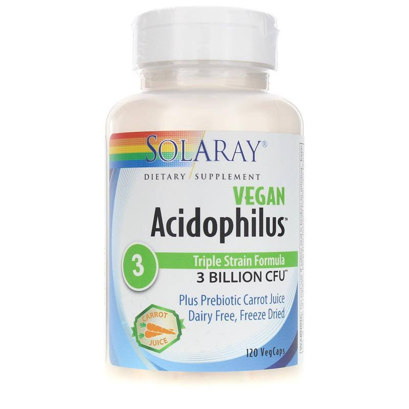 Solaray Acidophilus Carrot Juice, Capsules - 120 count