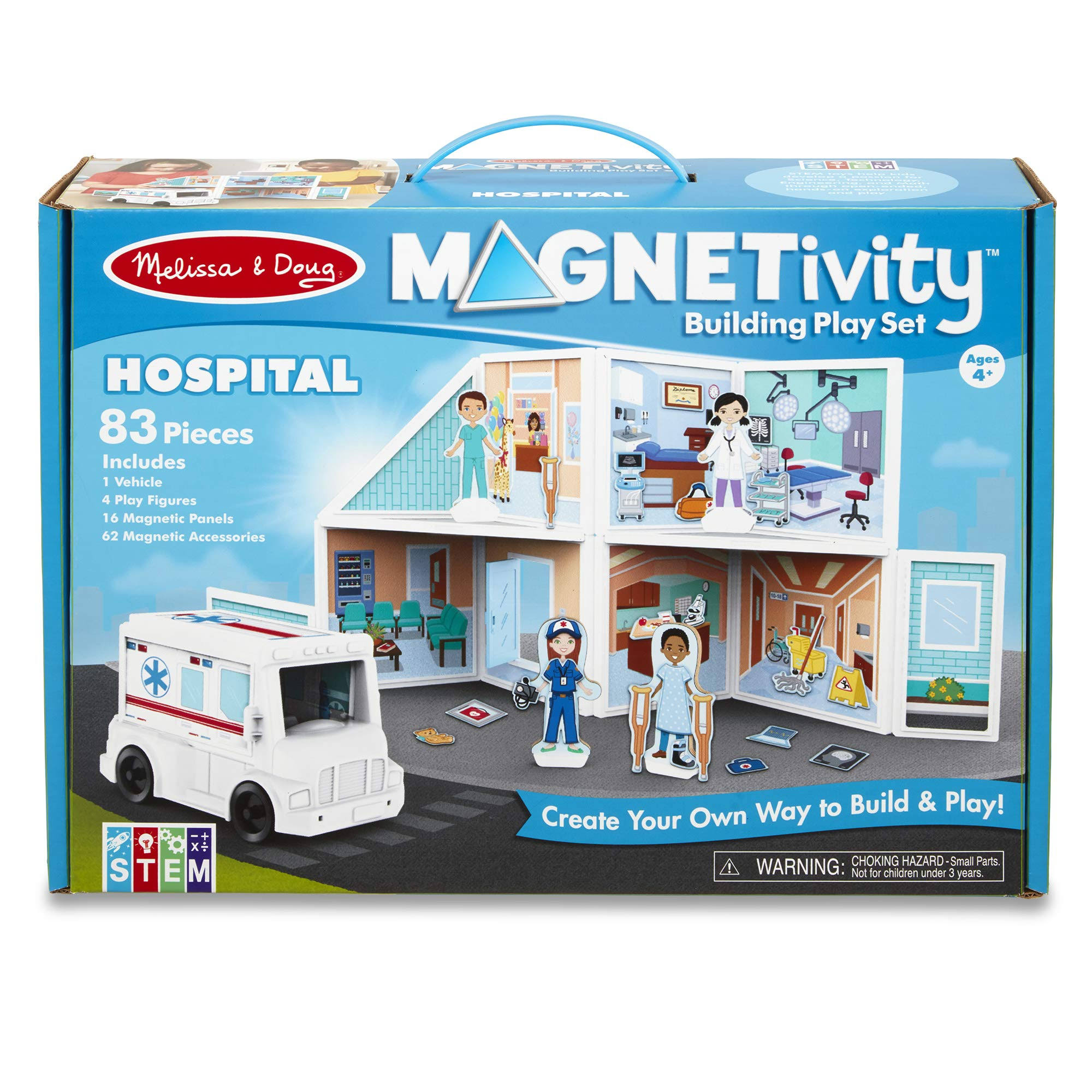 Melissa & Doug Building Play Set Hospital Magnetivity Magnetic