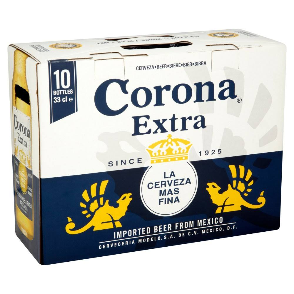 Corona Extra Lager Beer - 330ml, 10pc