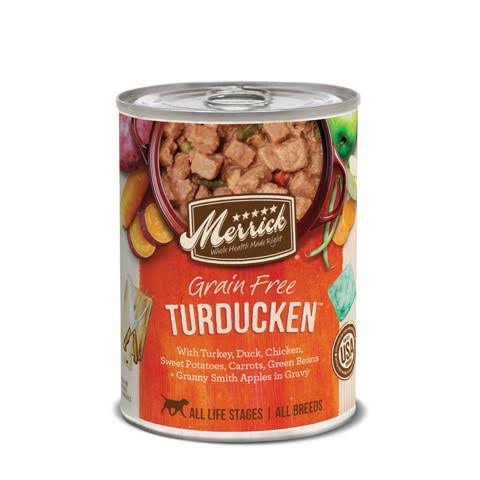 Merrick Grain-Free Turducken Recipe Canned Dog Food 13.2oz